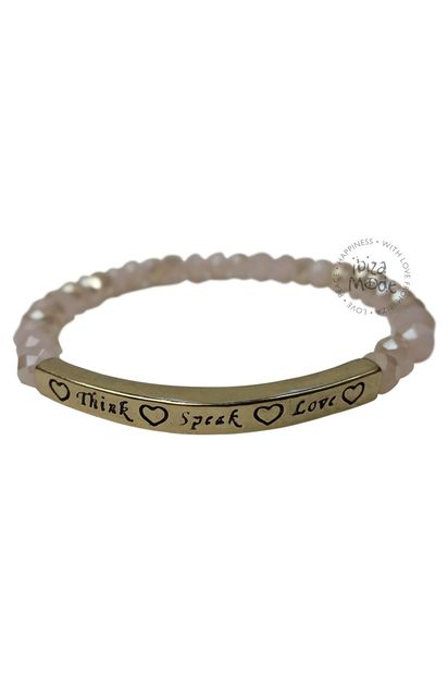 Bracelet Think Speak Love - Pink / Gold