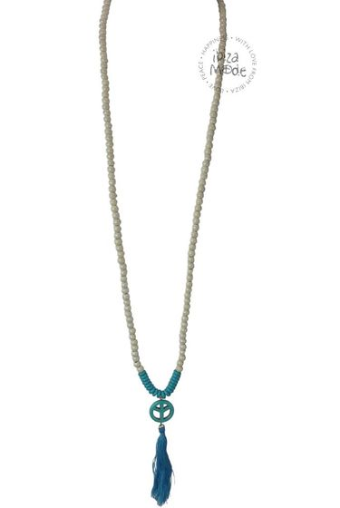 Necklace Beads Peace - Turquoise