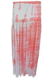 Maxi Skirt Tie Dye Desert Hot Lava - Coral