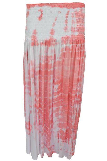 Hot Lava Maxi Skirt Tie Dye Desert Hot Lava - Coral