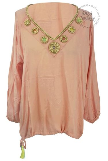 Blouse Milky Stones - Baby Peach (take pictures)