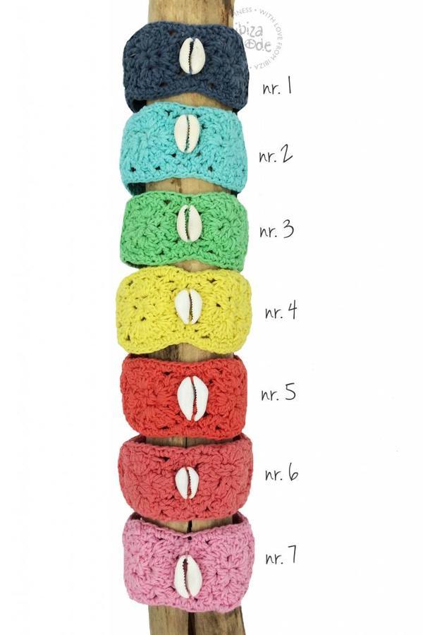 Crochet Bracelet & Hot Lava Shell - Multi