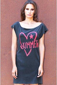 Ravens View Kleid Vestido 80 Summer Heart - Anthrazit
