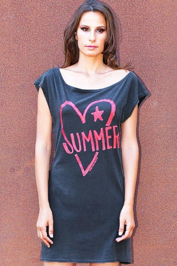 Kleid Vestido 80 Sommer-Herz Ravens View - Anthrazit