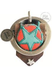 Peacebird Bo-Belt Bracelet Cow - Brown/Coral