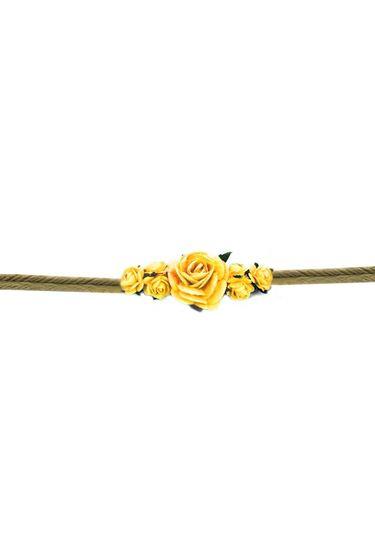 Armband-Blumen-String Bast - Gelb