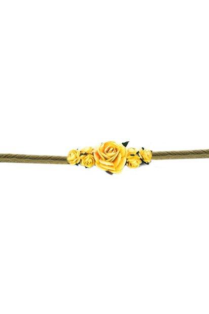 Bracelet Flower String Raffia Chica Bonita - Yellow