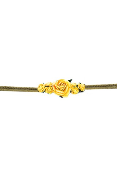 Chica Bonita Armband-Blumen-String Bast Chica Bonita - Gelb