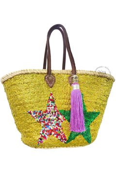 Ibiza Beachbag 2 Stars - Gold/Multi/Green