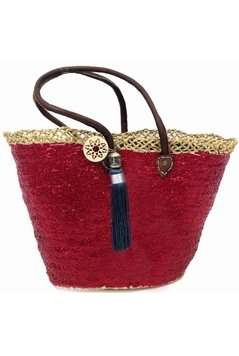 Ibiza Beachbag Fancy Star - Red