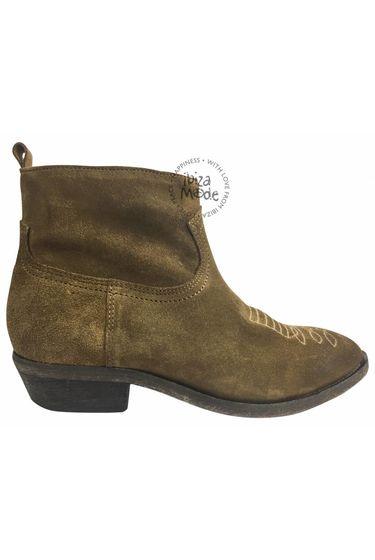 Olsen Stiefel mit Reißverschluss Vesuvio - Tabacco