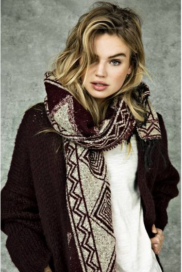 Knitted Cardigan Luna - Burgundy