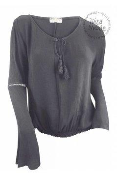 Top Crochet - Grau