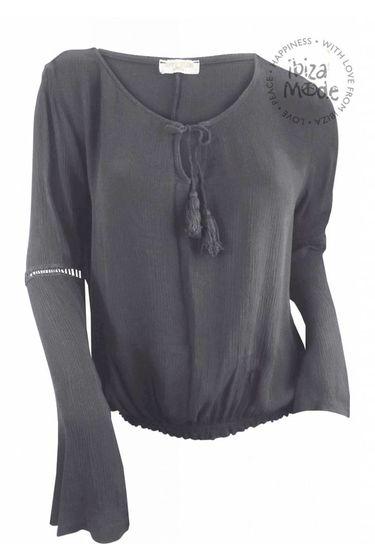 Top Crochet - Grey