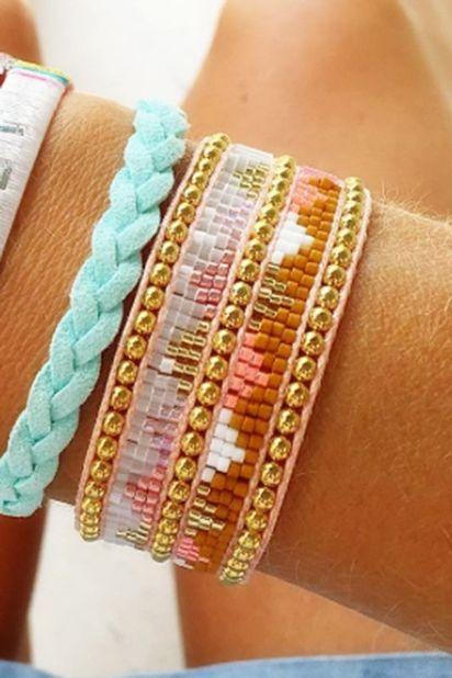 Hipanema Armband Minigold Hipanema - Twin Rosa