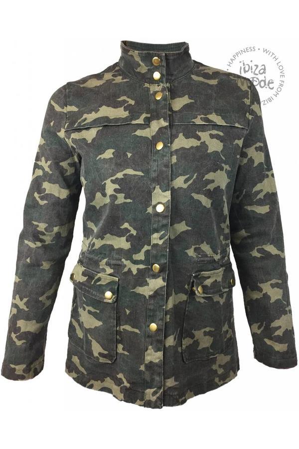 Camouflage Jacket Jacket - Blue / Yellow - Size M