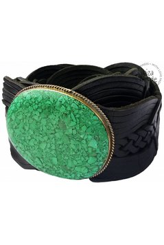 Belt Big Stone - Black/Emerald