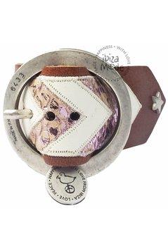 Peacebird Aztec Bracelet Large - Brown/Soft Pink
