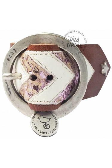Aztec Armband Large - Brown / Soft Pink