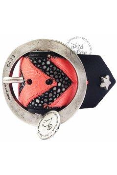 Peacebird Aztec Bracelet Large - Black/Neon Pink