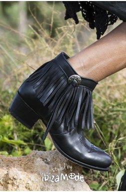 Sendra Low Boots Salvaje Negro - Black