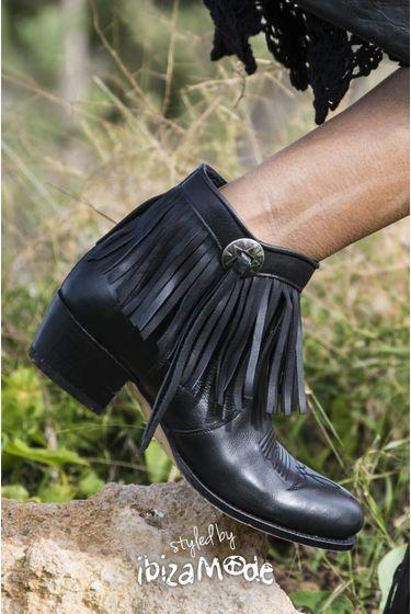 Low Boots Salvaje Negro - Schwarz