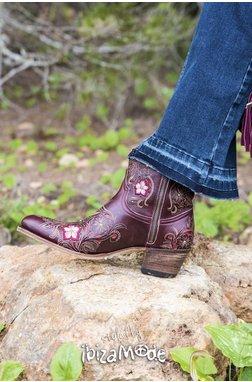 Sendra Low Boots Corona Burdeos - Brown