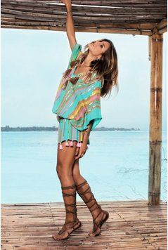 Miss June Dress Summer - Turquoise
