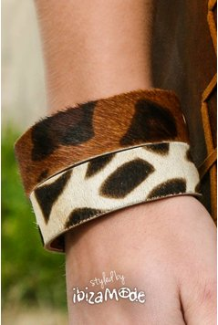 Hot Lava Savanah Leder Armband - Print Medium / Large