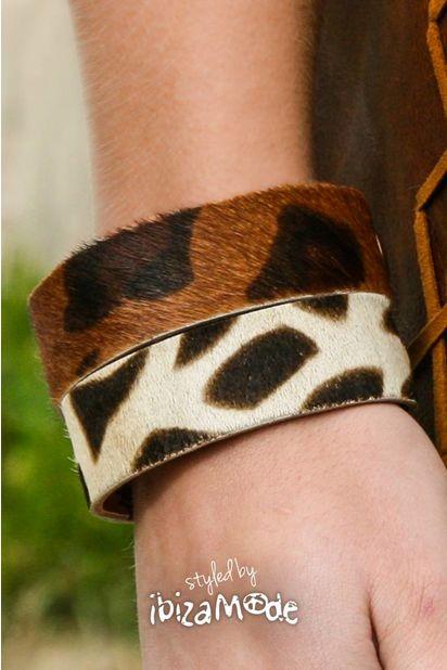 Savanah Leather Bracelet - Print Medium / Large