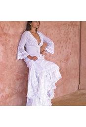 Gado Gado Long Dress Smock Gado Gado - White