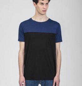 Re-Bello T-shirt Jacob blauw/zwart