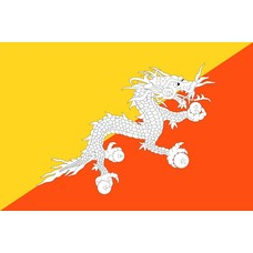 Vlag Bhutan Bhutaanse vlag