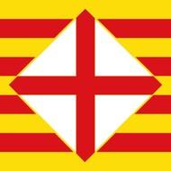 Vlag Barcelona Provincie vlag