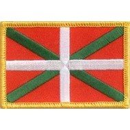 Patch Baskenland Baskische vlag patch