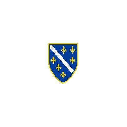 Vlag Bosnia 1992 1998 Bosnische vlag