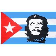 Vlag Cuba met Che Guevara