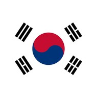 Vlag Korea Zuid vlag