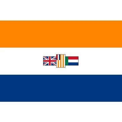 Vlag Zuid Afrika oude apartheid vlag