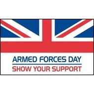 Stok- / zwaai-vlag Armed Forces Day hand (6 stuks)
