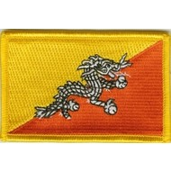 Patch Bhutan flag patch