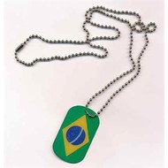 Dog Tag Brazil flag Dog Tag