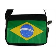 Schoudertas Brazil schoudertas met vlag
