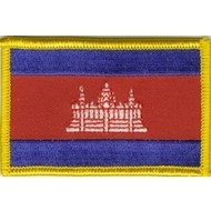 Patch Cambodia Cambodja vlag patch