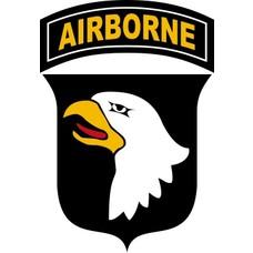 Vlag 101st Airborne vlag wit