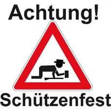 Vlag Achtung Schutzenfest vlag