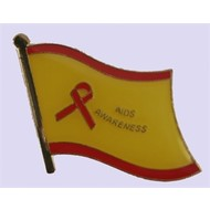 Speldje Aids Awareness pin