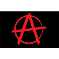 Vlag Anarchy Rood vlag
