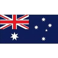 Stok- / zwaai-vlag Australia stick waving ( 6x)