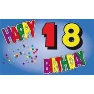 Vlag Happy 21st Birthday vlag